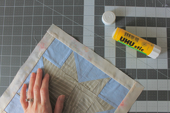 Baste with a Glue Stick for Precise Seams