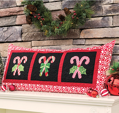 Candy Cane Bench Pillow Pattern