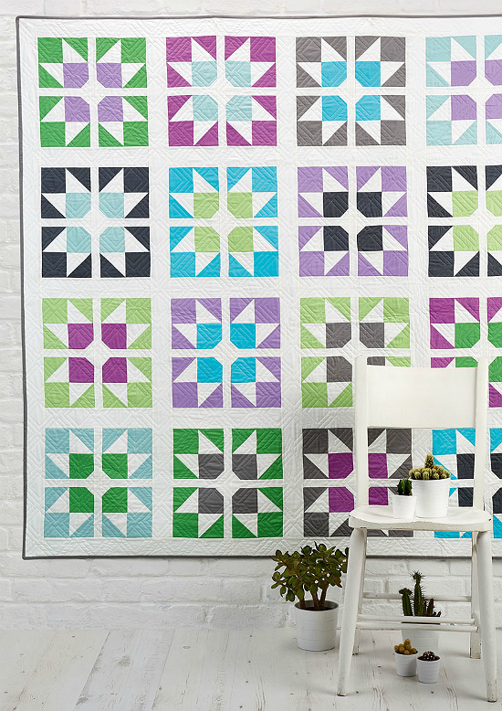 Split Stars Quilt Pattern