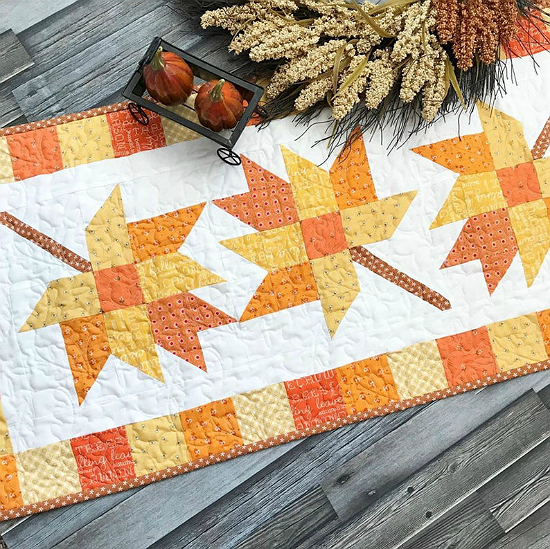 Fall Into Autumn Table Runner Pattern