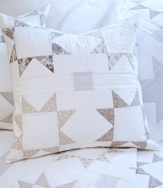 Silver Starlight Quilt Pattern