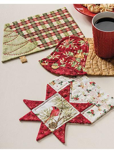 Christmas Mug Rug Set Pattern