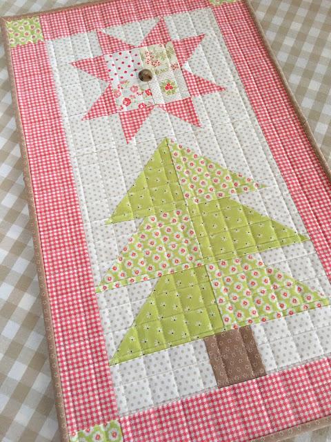 Star Crossed Pines Mini Quilt