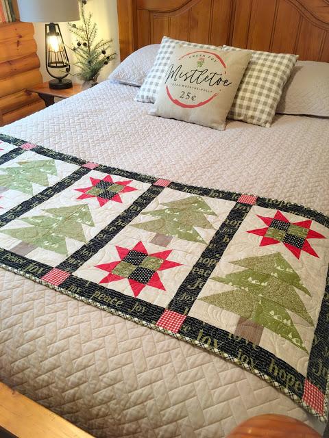 Star Crossed Pines Bed Runner