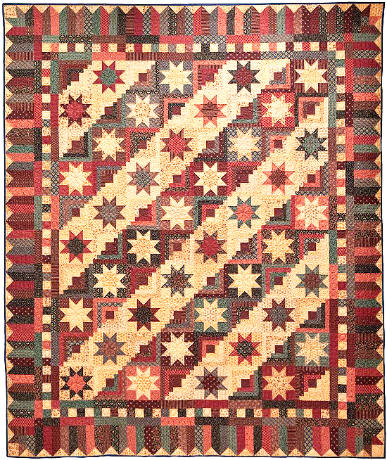 Cabin in the Stars Quilt Pattern