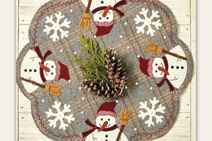 Frosty & Snowflakes All Around Table Topper Pattern