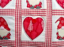 Christmas Gnomes and Hearts Pillow