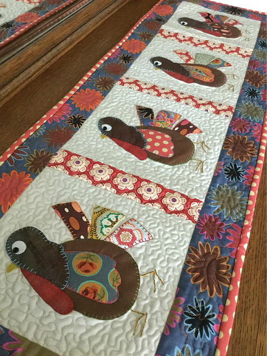 Gobble, Gobble, Gobble Table Runner Pattern