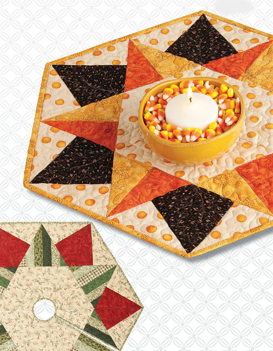 Happy Holidays Tree Skirt and Table Topper Pattern