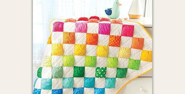 Rainbow Puffs Quilt Pattern