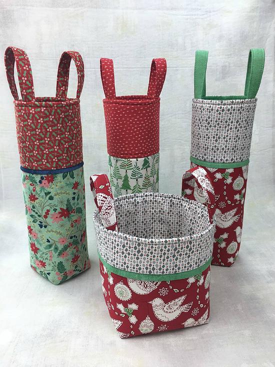 Wine Tote and Mini Basket Pattern