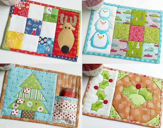 Christmas on-the-side Mug Rugs Pattern