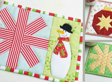 Christmas on-the-side Mug Rugs Pattern