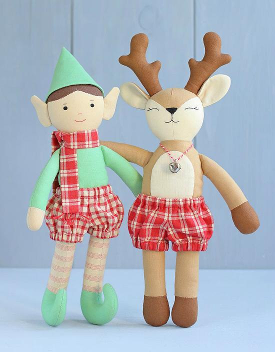 Elf and Reindeer Pattern