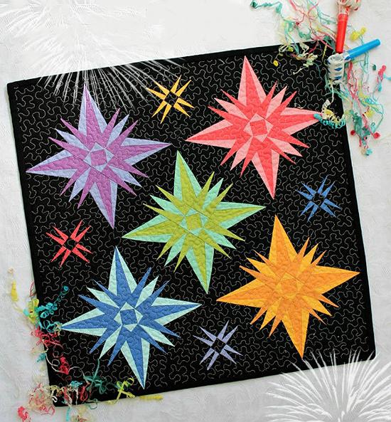 Fireworks Mini Quilt Pattern
