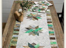 Nature's Patchwork Table Runner Set Pattern