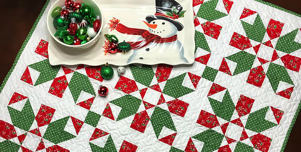 Peppermint Christmas Table Topper Pattern