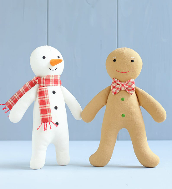 Snowman and Gingerbread Man Pattern