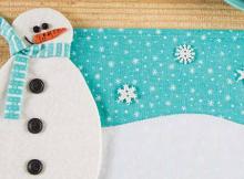 Build a Snowman Mug Rug Pattern