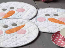 Snow Buddies Place Mats Pattern