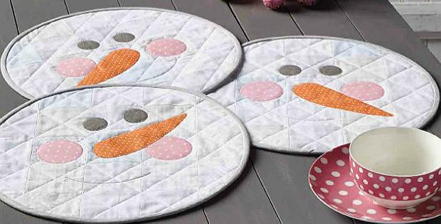 Snow Buddies Place Mats Pattern