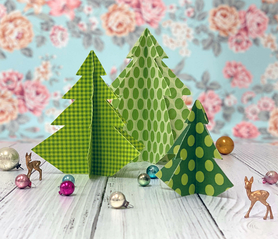Magical Fabric Holiday Trees Tutorial