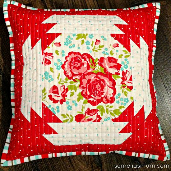 Quilted Garden Pillow Tutorial