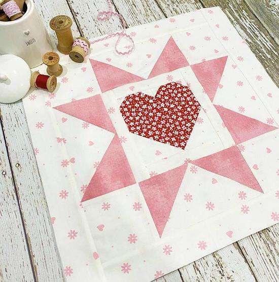 Heart in a Star Mini or Block Pattern