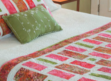 Stepping Stones Bed Runner and Pillow Sham Pattern