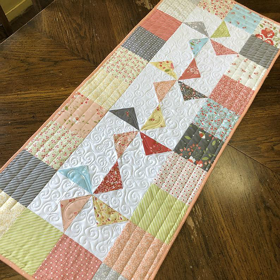 Windmills Charm Square Table Runner Pattern