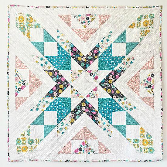 Confetti Burst Patchwork Star Quilt Pattern