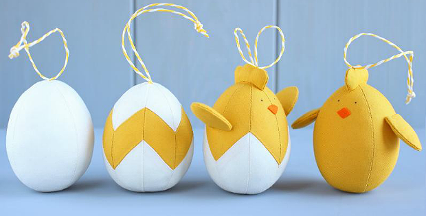 4 Easter Ornaments Sewing Pattern