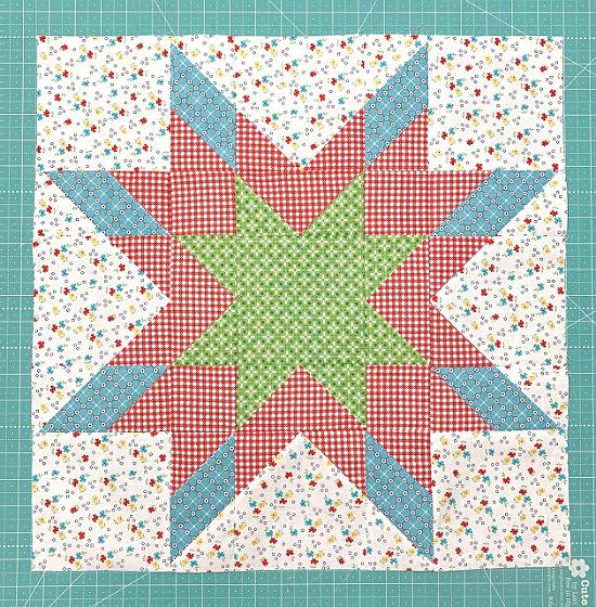 Star Shine Quilt Block Tutorial