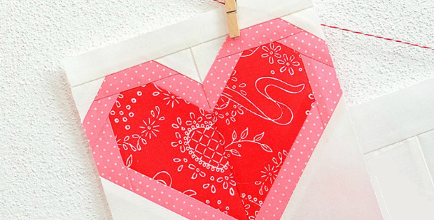 I Heart You Quilt Block Pattern