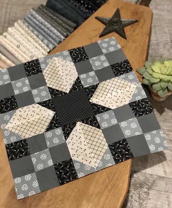 Stellar Star Quilt Block Pattern