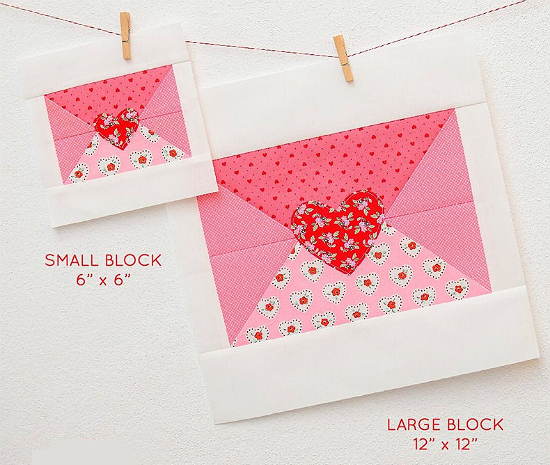 Love Note Quilt Block Pattern