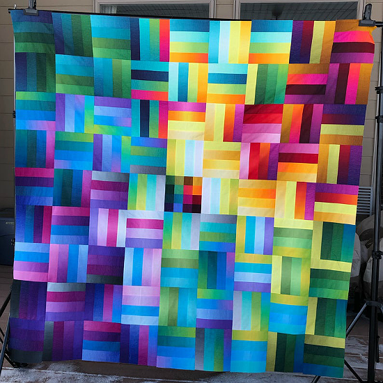Ombreiled Quilt Pattern