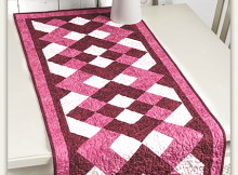 Raspberry Ripple Table Runner Pattern
