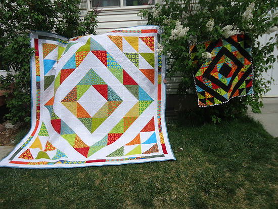 Diamond and Splash Quilt Patterns