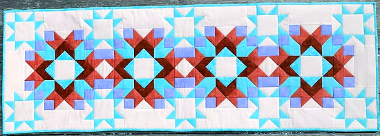 Easy Stars Pieced Table Runner Pattern