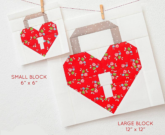 Unlock My Heart Quilt Block Pattern