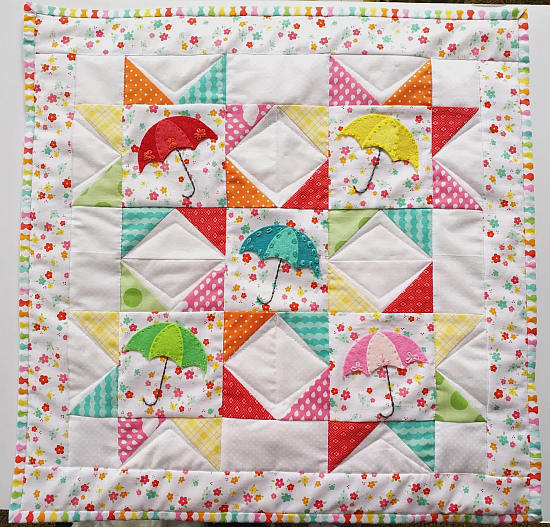 Springtime Showers Mini Quilt Pattern