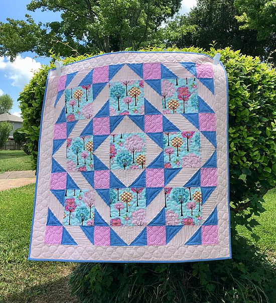 Baby Diamond Square Dance Quilt Pattern