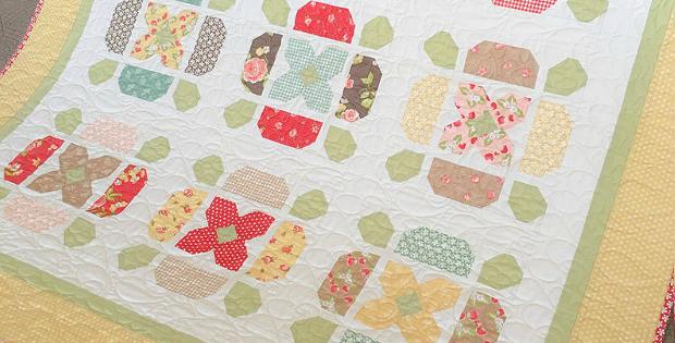 Flower Tile Quilt Pattern