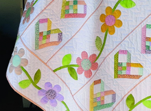 Hearts and Flowers Lap Quilt Pattern