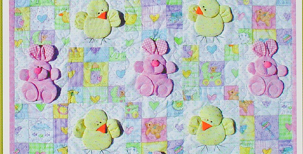 Bunny Rabbit and Eggs Quilt Pattern