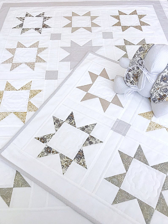 Starlight Dreams Baby Quilt, Lovey and Bunny Patterns