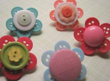Button Flower Tutorial