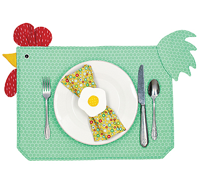 Chickens on the Runner Table Set Pattern