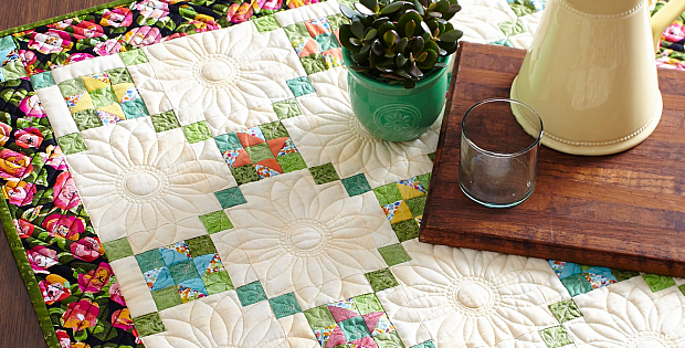 Flower Power Table Quilt Pattern
